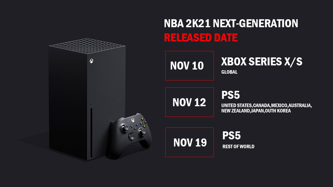 NBA 2K21 will Land on Xbox Series X/S consoles in November
