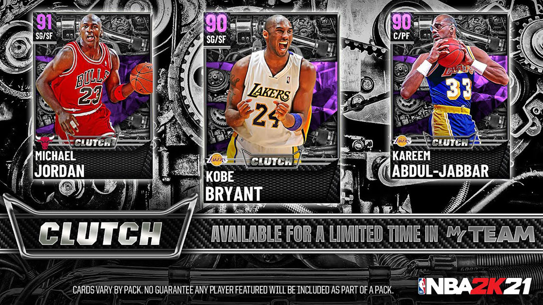 NBA 2K21 MyTeam Clutch Packs player introduction